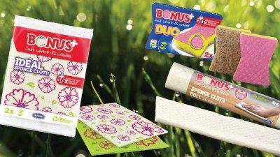 Öko takarítóeszközök (pamutból és újrahasznosított cellulózból)
